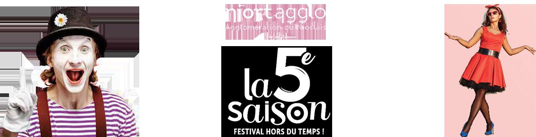 Le festival 5e saison sur tout le territoire de NiortAgglo